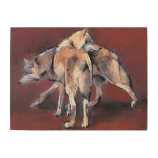 Wolf Composition 2001 Wood Print