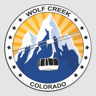 Wolf Creek Colorado Round Sticker