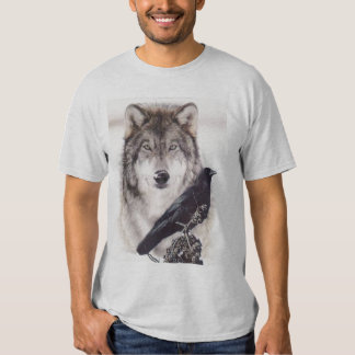 wolf-crow t shirt