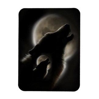 Wolf Cry Nights Rectangular Photo Magnet