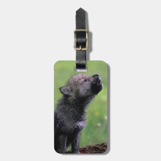 Wolf Cub Howling Luggage Tag