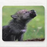 Wolf Cub Howling Mousepad