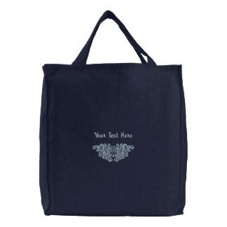 Wolf Damask Bags