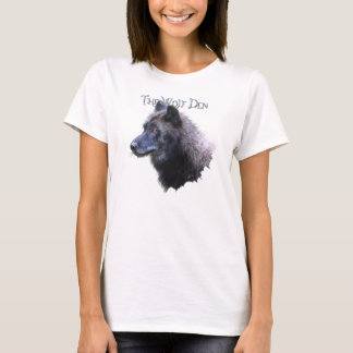 Wolf Den Grey Wolf Head Wildlife T-Shirt