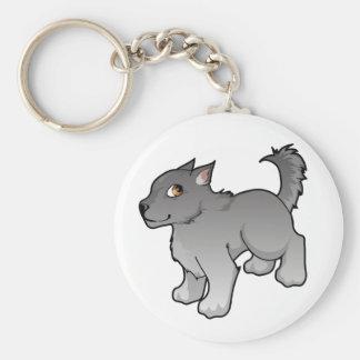 Wolf Design Basic Round Button Key Ring