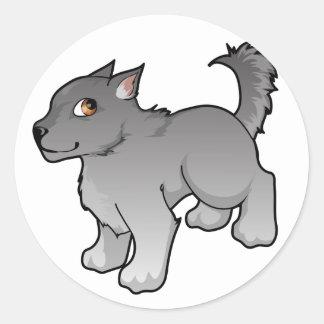 Wolf Design Round Sticker