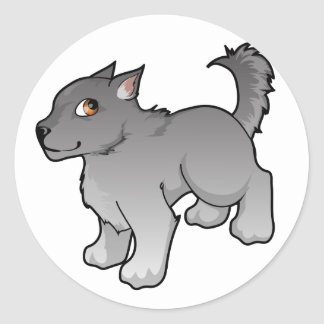 Wolf Design Round Stickers