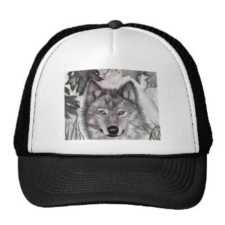 Wolf Drawing Cap