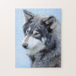Wolf Drawing Puzzle
