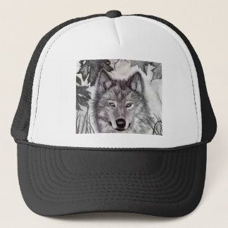 Wolf Drawing Trucker Hat