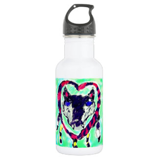 Wolf dream catcher 532 ml water bottle
