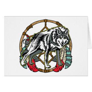 Wolf Dreamcatcher Card