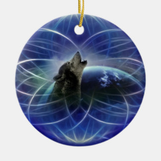 Wolf dreamcatcher christmas tree christmas ornament