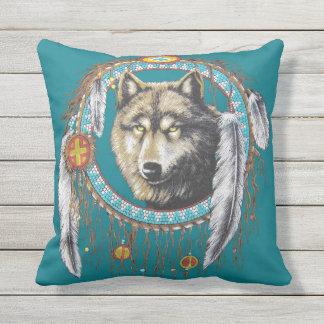 Wolf Dreamcatcher Cushion