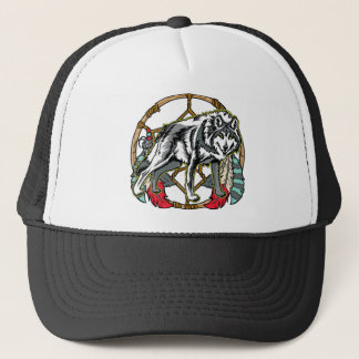 Wolf Dreamcatcher Trucker Hat