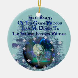 Wolf Dreams Gifts Round Ceramic Decoration