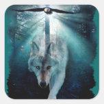 WOLF & EAGLE Harmony Wildlife Sticker