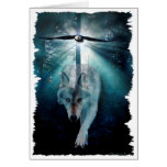 WOLF & EAGLE Wildlife Series Greeting Cards