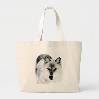 Wolf Eyes Large Tote Bag
