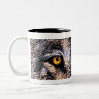 Wolf Eyes Two-Tone Coffee Mug