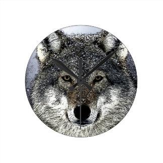 Wolf Eyes Wallclock