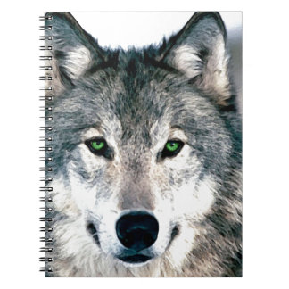 Wolf Eyes wild nature animal Print Notebook