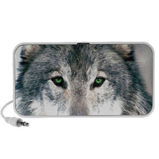 Wolf Eyes wild nature animal Print Mini Speakers