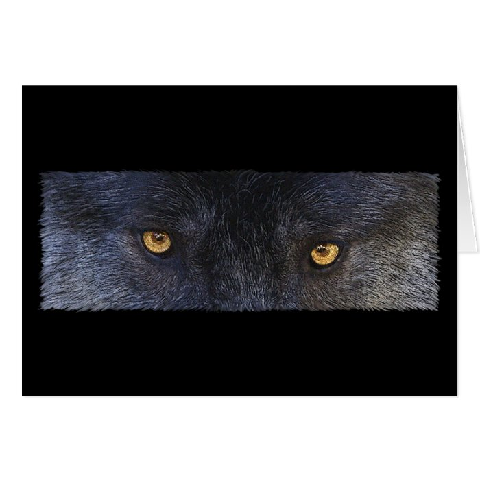 WOLF EYES Wildlife Supporter Greeting-cards Greeting Card