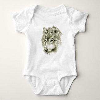 Wolf Face Baby Bodysuit