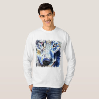 Wolf face colored T-Shirt
