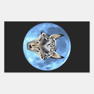 Wolf Face Rectangular Sticker