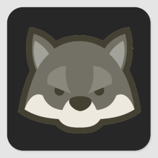 Wolf Face Square Sticker