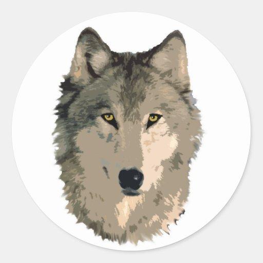 wolf face sticker