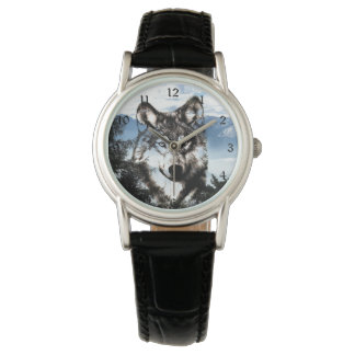Wolf face wrist watches