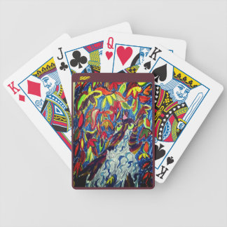Wolf fall art bicycle playing cards