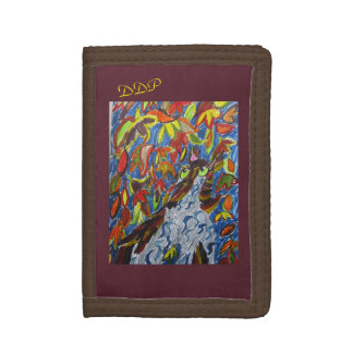 Wolf fall art trifold wallets