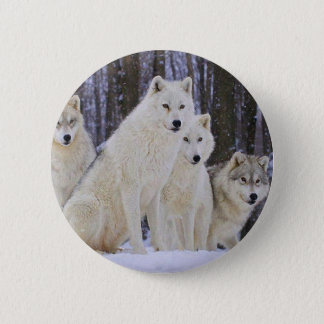 Wolf Family 6 Cm Round Badge