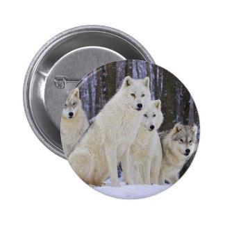 Wolf Family 6 Cm Round Badge