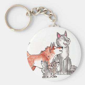 Wolf Family Keychain