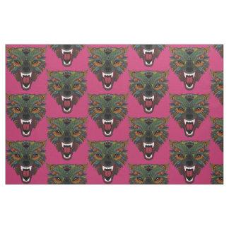 wolf fight flight pink fabric
