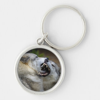 Wolf Fight Key Ring