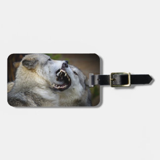 Wolf Fight Luggage Tag