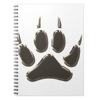 wolf footprint notebooks