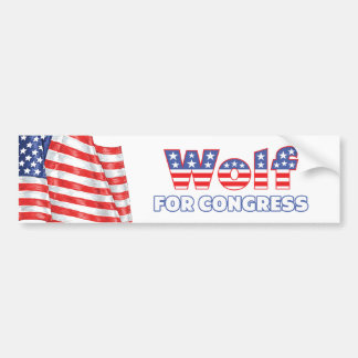 Wolf for Congress Patriotic American Flag Bumper Sticker