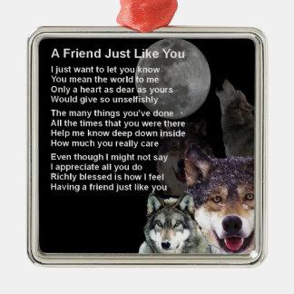 Wolf - Friend Poem Christmas Ornament