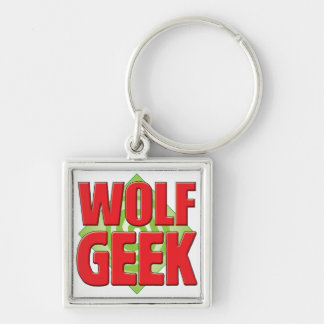 Wolf Geek v2 Silver-Colored Square Key Ring