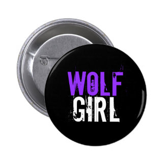 Wolf girl 6 cm round badge