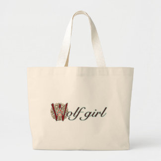 Wolf Girl Large Tote Bag
