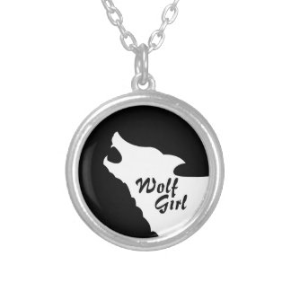 Wolf Girl Silver Plated Necklace