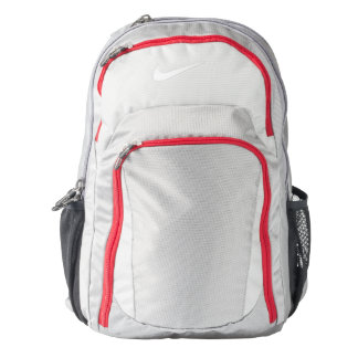 Wolf Grey and Gym Red Nike Performance Backpack